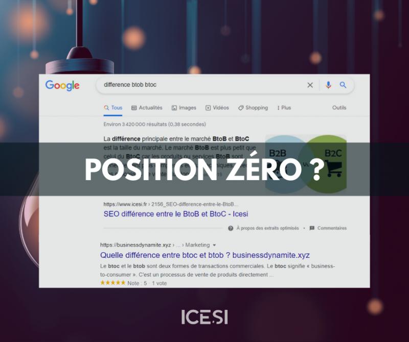 Qu'est-ce que la position 0 sur Google ?
