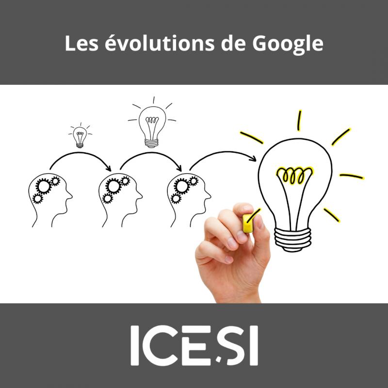 Les principales évolutions de Google