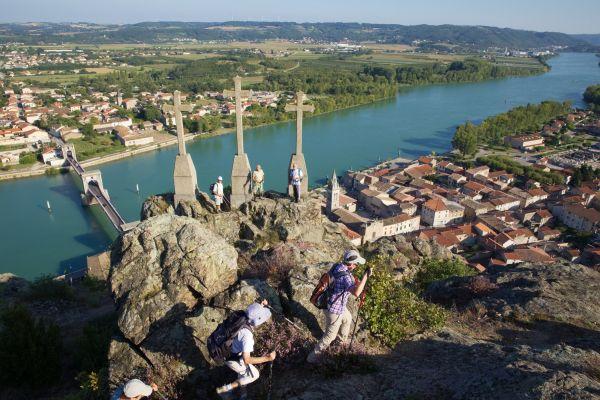 Randonnée le Belvédère aux croix - Andance (Ardèche)