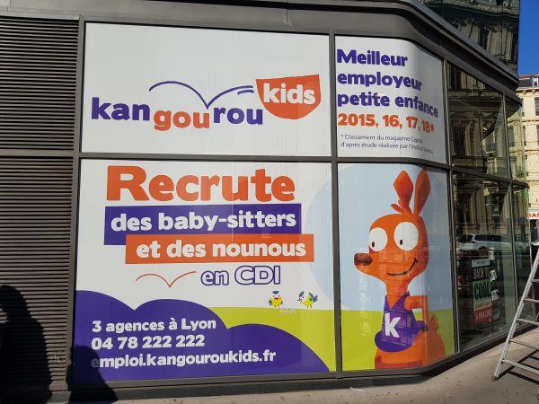 Décor évènementiel de vitres à Lyon