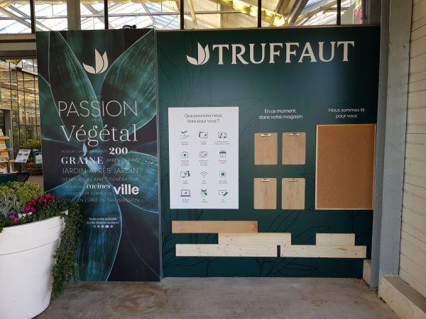 Impression numérique sur panneau plié dibond pour les JARDINERIES TRUFFAUT
