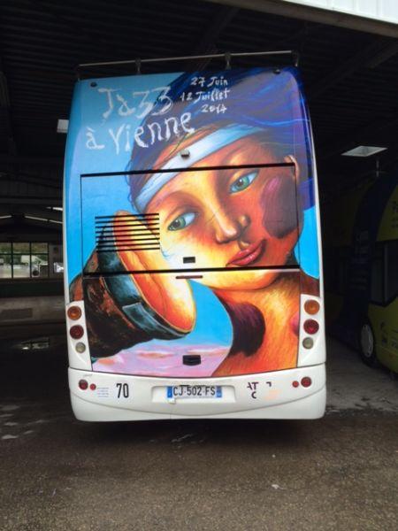 Décor Bus pour Festival JAZZ de Vienne
