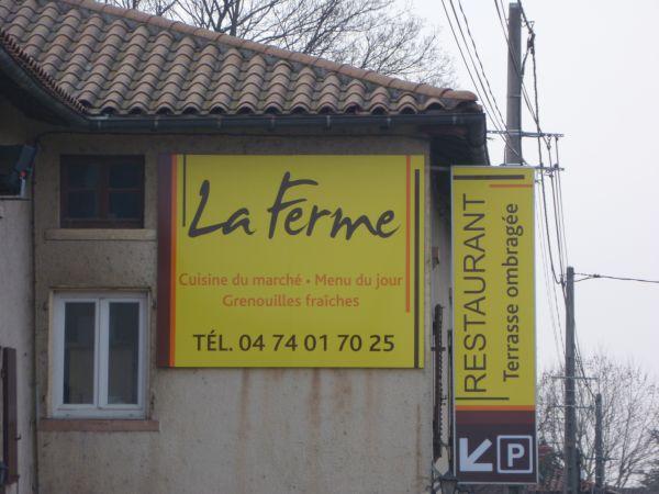 Panneau pour restaurant à Lyon 7ème