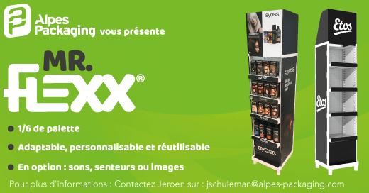 La PLV Mr Flexx est également disponible en 1/6 de palette !
