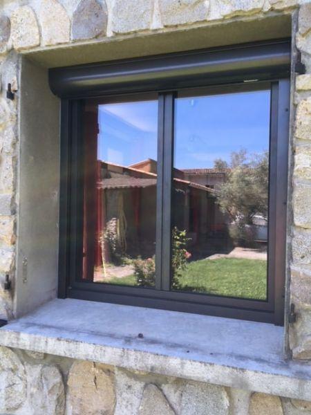 Rénovation d'une fenêtre en aluminium K-LINE et volet roulant