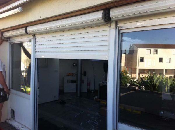 Rénovation d'un accès terrasse via l'installation d'un coulissant à galandage