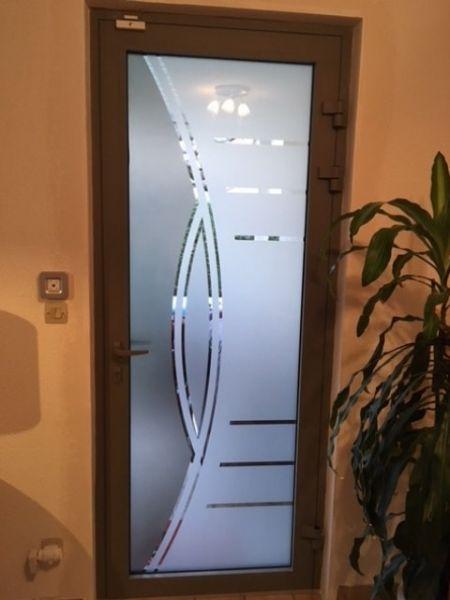 Pose d'une porte aluminium en verre SECURIT