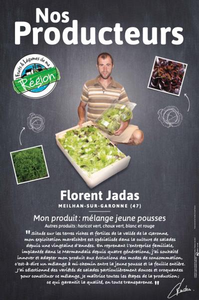 A la rencontre de nos producteurs, aujourd'hui Florent Jadas producteur de salades dans le Lot et Garonne