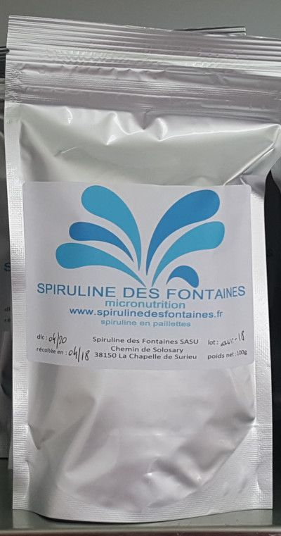 Spiruline en paillettes 100 gr X10 + 100 gr OFFERTS !